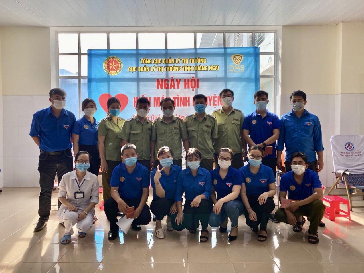 """Cục Quản lý thị trường tỉnh Quảng Ngãi hưởng ứng """"Ngày hội hiến máu tình nguyện năm 2021"""""""
